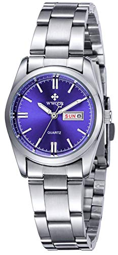 Women Fashion Watch Quartz Waterproof Stainless Steel Round Date Analog Casual Business Lady Watches