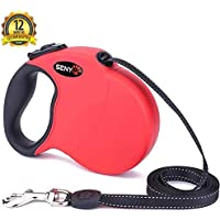 SENYE Retractable Dog Leash, 16ft Soft Retractable Leash for Dogs Up to 110 lbs, Soft Hand Grip, One Button Break & Lock…