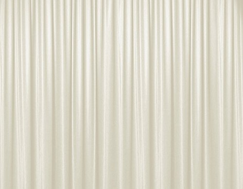 Urby 10 ft x 9.5 ft Fabric Backdrop Ivory Curtain Dual layers Top layer chiffon Bottom layer polyester