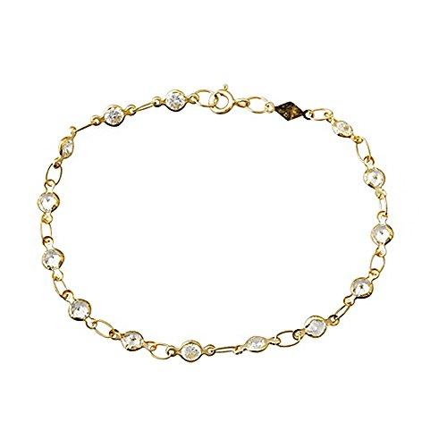 Bracelet 4mm or 18k zircone cubique. Première Communion [AA6723]