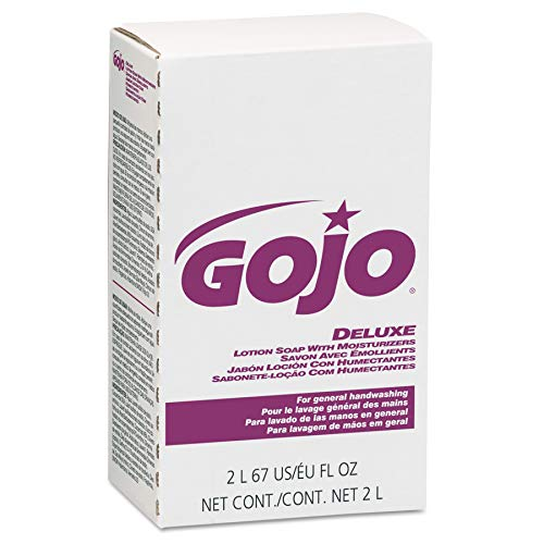 (GOJO NXT Deluxe Lotion Soap with Moisturizers, Floral Scent, 2000 mL EcoLogo Certified Soap Refill  for NXT MAXIMUM CAPACITY Push-Style Dispenser (Case of 4) - 2217-04)