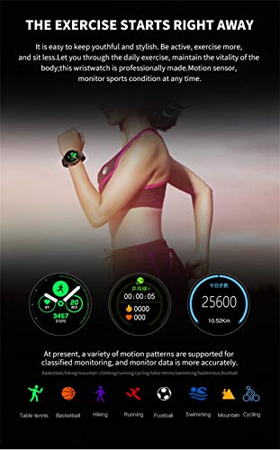 Hot Sale! NDGDA S10 Heart Rate Blood Pressure Sleep Monitoring Smart Watch Sports Bracelet Band (A) by NDGDA Smart Watch (Image #3)