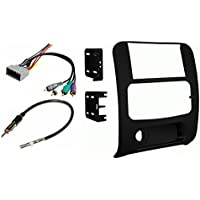 Jeep Liberty 2003 2004 2005 2006 2007 Aftermarket Double Din Radio Installation Dash Kit Bezel + Premium Wire Harness & Antenna Adapter