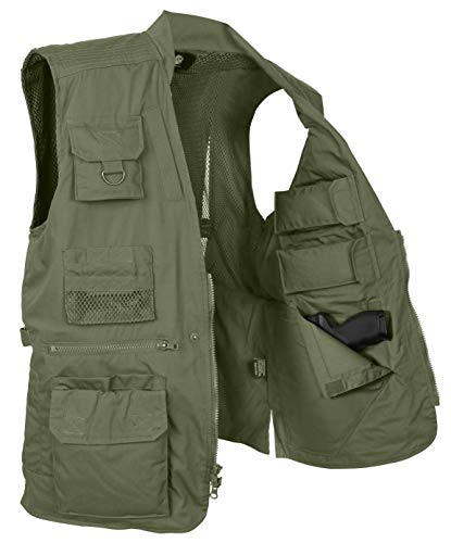 (Rothco Plainclothes Concealed Carry Vest, Olive Drab,)