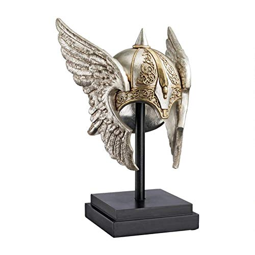 Design Toscano Valkyrie Helmet Statue upon Museum Mount by Design Toscano
