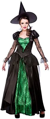 4f414dcfb70 (L) Ladies Emerald Witch Queen Halloween Costume for Fancy Dress Womens L