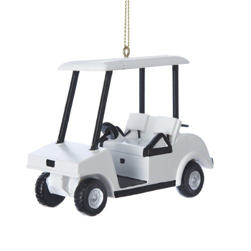 amazoncom golf cart ornament a1420 kurt adler home kitchen - Golf Cart Christmas Decorations
