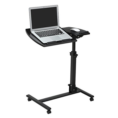 Height Adjustable Laptop Desk - LANGRIA Laptop Rolling Cart Table Height Adjustable Mobile Laptop Stand Desk