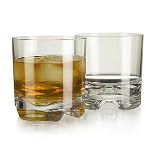 Perfect Ambassador Indoor/Outdoor Rocks Whiskey U0026 Old Fashioned Glasses | Seamless,  Unbreakable Tritan With Recessed, Ergonomic Shams | 8.5 Ounce, Set Of 4