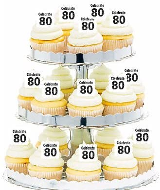 Enjoyable Amazon Com 12Pack Celebrate 80 80Th Birthday Hamburger Funny Birthday Cards Online Inifodamsfinfo