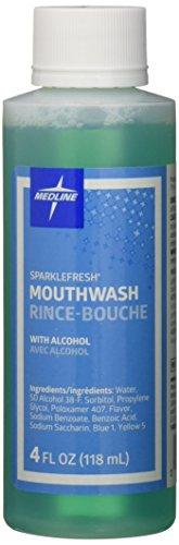 Medline CTR000426 Sparkle Fresh Latex Free Mouthwash, 4-Ounce (Pack of 60) (Medline Wash)