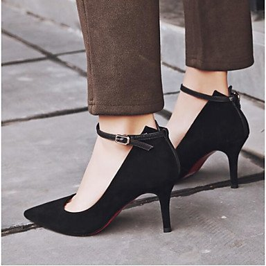 pwne Tacones De Mujeres Pu Confort Casual De Resorte Plano Negro Negro Us6.5-7 / Ue37 / Uk4 5-5 / Cn37 US6.5-7 / EU37 / UK4.5-5 / CN37