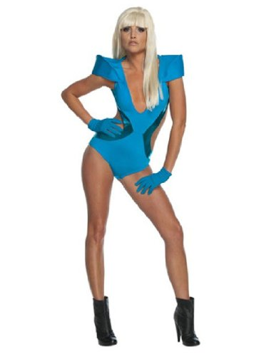 Celebrity Halloween Outfit (Lady Gaga Blue Swimsuit Adult Costume -)