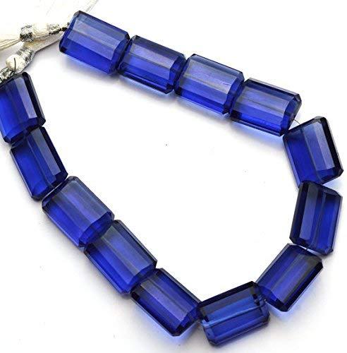 1 Strand Blue Tanzanite Color Hydro Quartz Facet 14x18MM Approx. Nugget Shape Beads 9.5