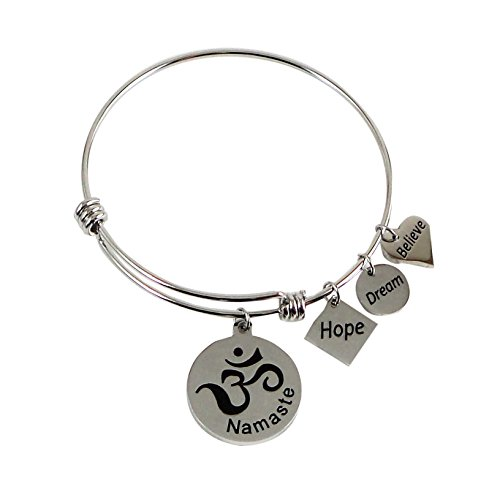 Expandable Charm Bangle Namaste Believe