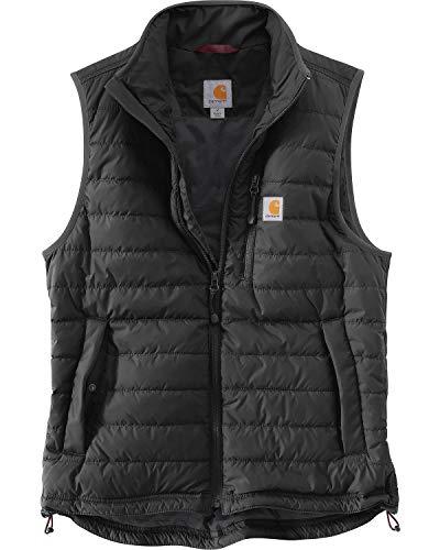 Carhartt Men's Gilliam Vest, Black, Medium (Mens Black Jacket Vest)
