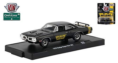 M2 Machines 1970 Dodge Super Bee 383 (WEIAND) Auto-Drivers Release 56 - Castline 2019 Special Edition 1:64 Scale Die-Cast Vehicle & Custom Display Base (R56 18-37) ()