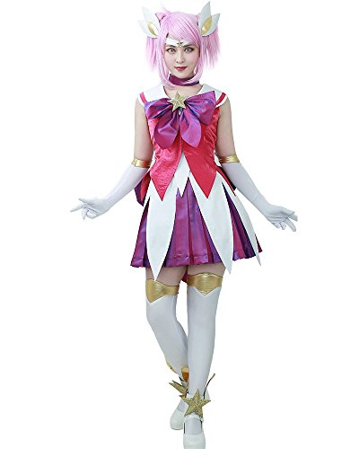 Miccostumes Women's League Of Legends The Lady Luminosity Star Guardian Lux Costume (women s)