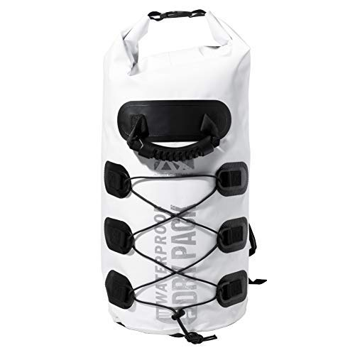 Franklin Sports Arctic Trails Waterproof Dry Bag Backpack with Bungee Straps - Kayak - Camping- Hiking- Boating- Beach- Fishing- Floating - Sea- Ocean 20L/30L - Heavy Duty - Light Weight [並行輸入品] B07R4TP4ZZ