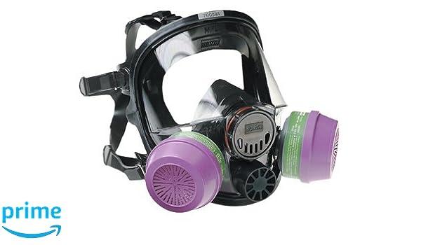 North by Honeywell 54001 5400 Series Low Maintenance Full Facepiece Respirators Medium//Large