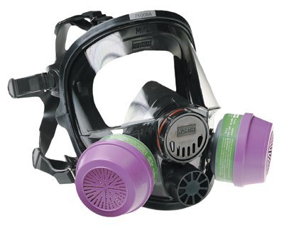 North by Honeywell 068-760008A Series 7600 Full Facepiece Respirator, Medium/Large
