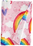 Dream Factory Unicorn Rainbow Blanket, 50' x 70', Multicolor