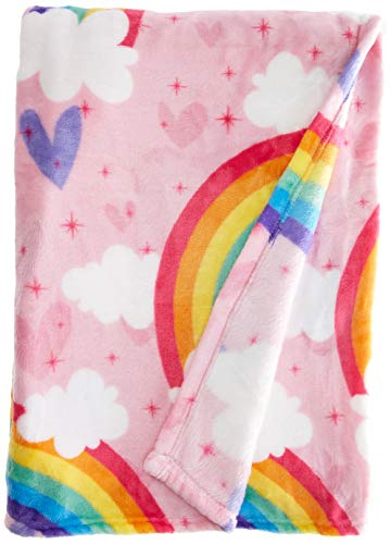 "Dream Factory Unicorn Rainbow Blanket, 50"" x 70"", Multicolor"
