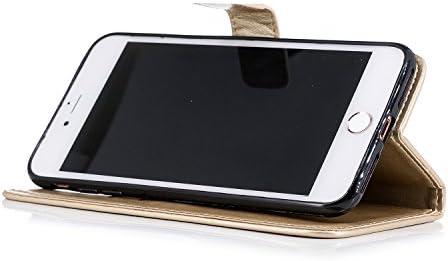 Lomogo iPhone 7 Plus/iPhone 8 Plus ケース 手帳型 耐衝撃 レザーケース 財布型 カードポケット スタンド機能 マグネット式 アイフォン7Plus / 8Plus 手帳型ケース カバー 人気 - LOXCH020030 紫