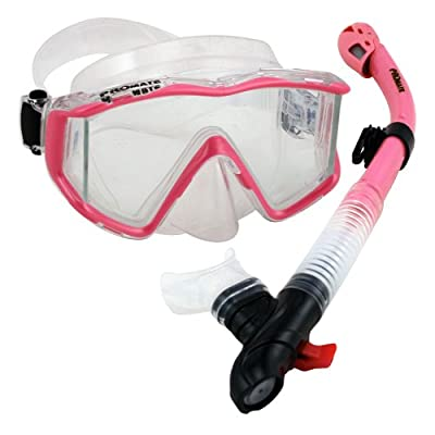 Promate Snorkeling Gear Scuba Dive Panoramic Mask DRY Snorkel Set- 9090