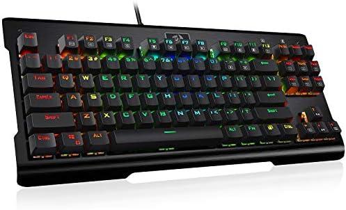 ec9eece0c6f Redragon K561 VISNU Mechanical Gaming Keyboard, Anti-ghosting 87 Keys, RGB  Backlit,