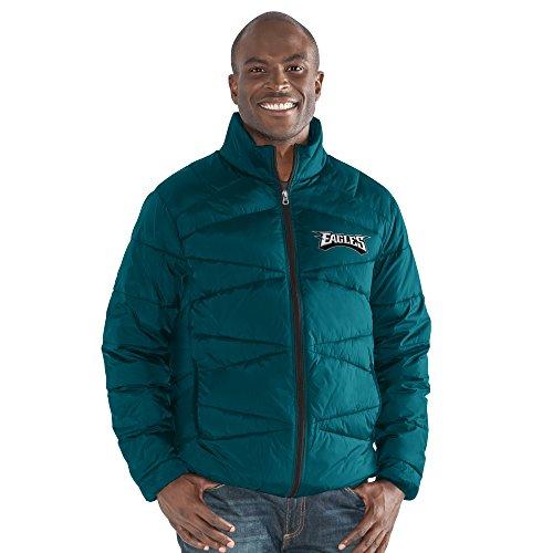 Philadelphia Eagles Mens Jackets - G-III Sports NFL Philadelphia Eagles The Blitz Full Zip Packable Jacket, 6X, Green