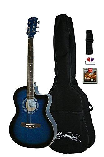 Guitarra Acústica electrificada Electroacústica Sunburst Bolsa 4B ...