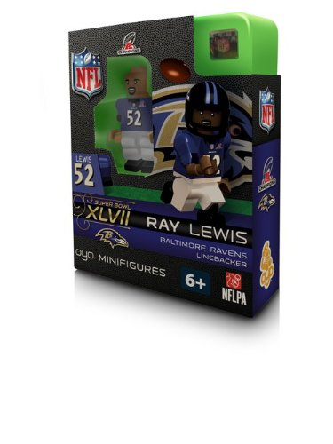 Ray Lewis 2012 AFC Champions Champs Oyo Mini Figure Baltimore Ravens Super Bowl XLVII Edition (Ray Lewis Figure)