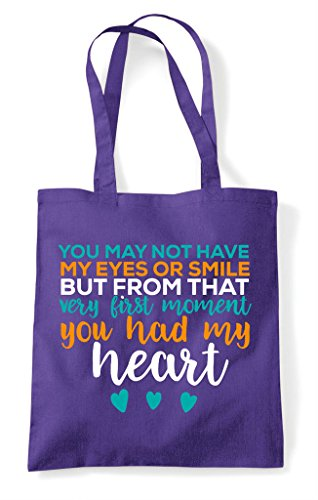 Eyes You Shopper Bag May The From Heart Had My Tote Adoption Purple Not Have Start But qIfqr