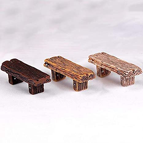 Swell Amazon Com Figurines Miniatures Wooden Bench Dolls House Short Links Chair Design For Home Short Linksinfo