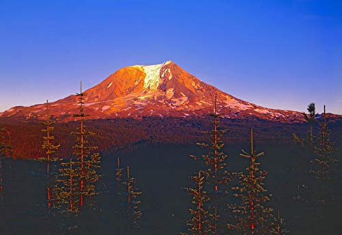 Mount Adams at Sunset, Cascade Range, Washington, landscape photo, nature photography, wall art, home decor, office decor, sizes up to 44x66 inches, fine art print, signed by the artist. (Cascade Set Office)