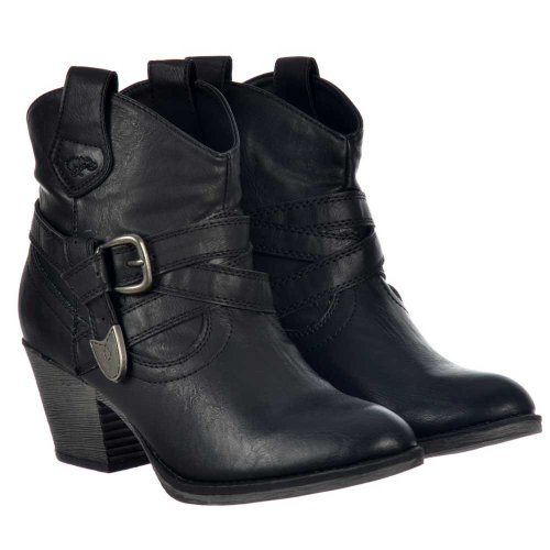Schwarz Satire Dog Stiefel Rocket Damen 1afZqwPI