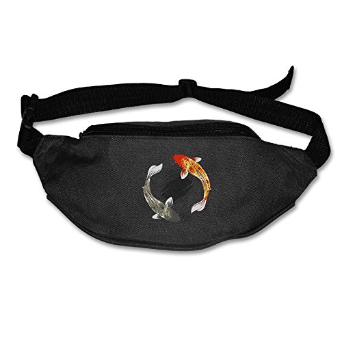 Waist Bag Fanny Pack Two Koi Fish Unisex Outdoor Sports Pouch Running Belt Fitness Travel Pocket Purse