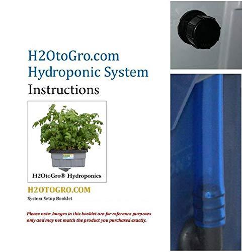 "New DWC Hydroponic BUBBLER Kit # 8 20"" x 15"", 6 site by H2OtoGro Hydroponic System 4"