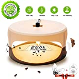 ZZC Flea Trap with 2 Glue Discs Waterproof Non-Toxic No Insecticides Trap Killer Best Pest Control for Home (White)