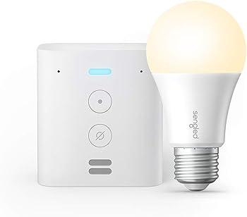 Amazon Echo Flex Plug-In Smart Speaker + Sengled Smart Wi-Fi LED A19 Bulb