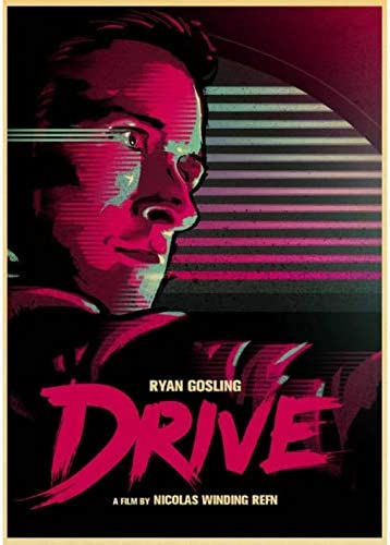 N//P Filmplakat Drive Ryan Gosling Filmplakat Leinwandplakat Gedruckte Wandplakate Art Home Room Painting Wandbild Dekoration 50 70Cm Rahmenlos