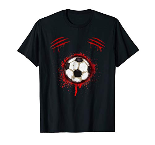 (Zombie Soccer Player T-shirt Halloween Costume)