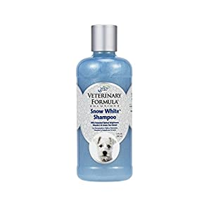 Veterinary Formula Solutions Snow White Shampoo for Dogs and Cats - Safely Remove Stains Without Bleach or Peroxide -Gently Cleanses, Deodorizes and Brightens White Coat - Fresh Scent (17oz) 78