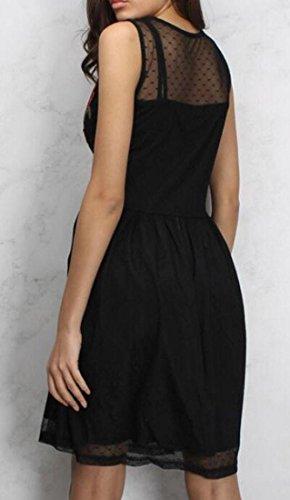 Party Picture Jaycargogo Sleeveless Dress As Womens Slim Chiffon Embroidery AqS1p
