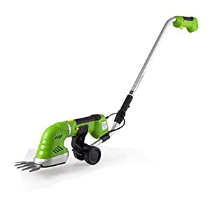 Serene Life Cordless Pole Grass Cutter Shears, Electric Hedge Shrubber Trimmer, Rechargeable Battery (PSLGR18)