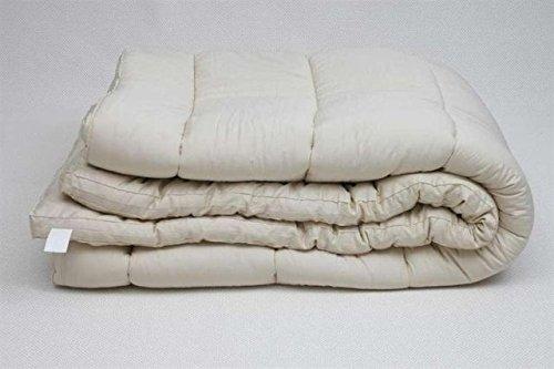 (Sleep & Beyond 60 by 80-Inch Organic Merino Wool Mattress Topper, Queen,)