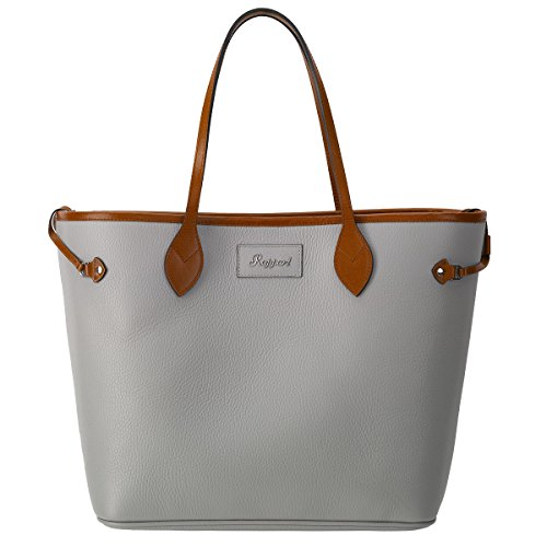 Rapport Large Ladies Leather Tote Shoulder Bag With Matching Pouch