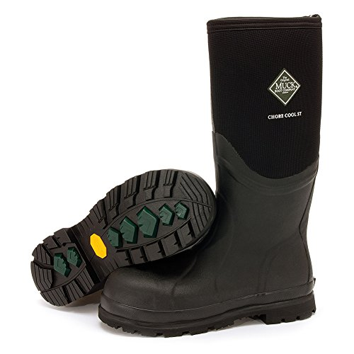 Weather Rubber Toe Black Boot Men's Steel Cool Boots Tall Chore Warm Work Muck wqIRHOI