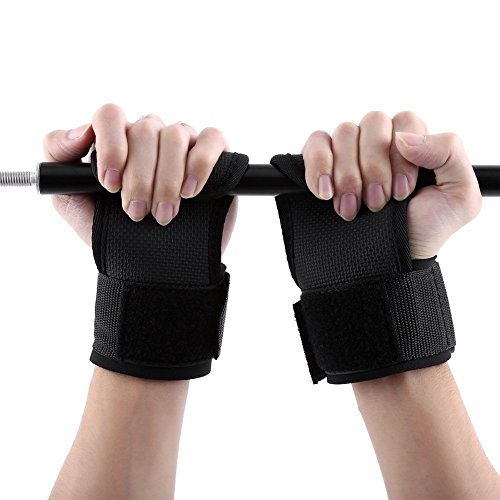 2pcs Power Weight Lifting Training Wrist Support Wraps GYM Bandage Straps Braces Adjustable Gloves Half Finger Wristband Anti-Skid For Fitness, WOD, Workout, Bodybuilding, Cross Wraps Men Women